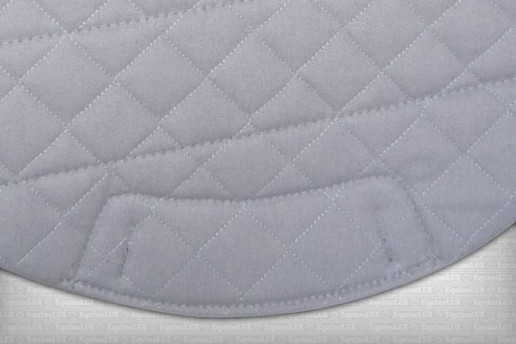 Contoured English saddle pads - SHOCK-REDUCING non-slip Eventing / Cross-Country saddle pad with pockets for shims, cotton lining, leather reinforcements