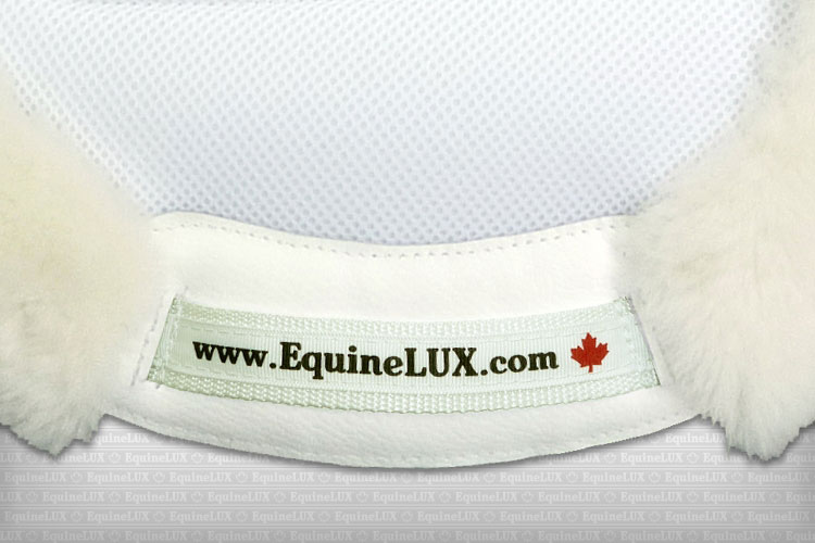 English saddle pads - EASY-ADJUSTABLE non-slip Hunter sheepskin lined saddle pad with pockets for shims, sheepskin rolled edge, leather reinforcements