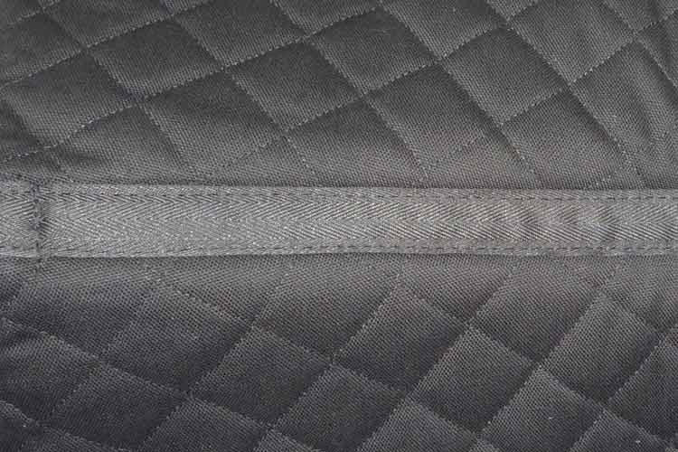 English saddle pads - SHOCK-REDUCING non-slip Jumper saddle pad with pockets for shims, cotton lining, leather reinforcements