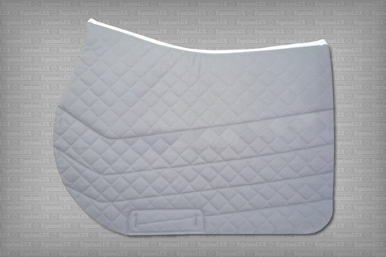 English saddle pads - SWEAT-WICKING non-slip Jumper saddle pad with cotton lining and leather reinforcements