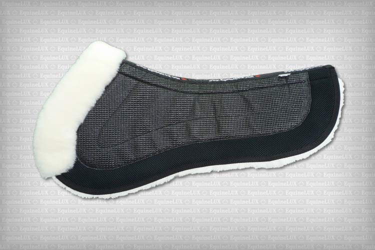 non-skid half-pad with sheepskin lining and trim