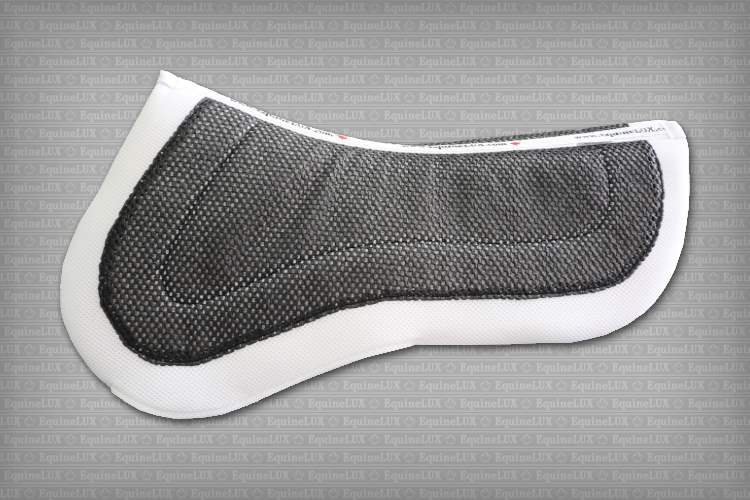 English saddle pads - REVERSIBLE half pad - two-color non-slip Jumper half pad with pockets for shims